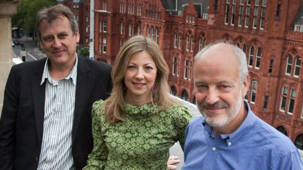 Global Witness founders Simon Taylor, Charmian Gooch and Patrick Alley. Photograph: Kristian Buus