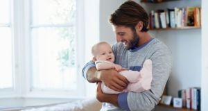 Babies whose fathers are more engaging and active during play show better cognitive development, according to a new study. Photograph: iStock