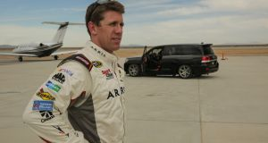 Former NASCAR driver Carl Edwards was brought in to take the wheel at the Mojave air and space port in California