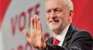 Labour Party leader Jeremy Corbyn at the party's general election campaign launch at Event City in Manchester on Tuesday. Photograph: Anthony Devlin/Getty Images