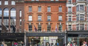 The AIB building on Grafton Street, Dublin. Grafton Street has by far the highest footfall of any street in Ireland, with visitor numbers last year exceeding 53.5m