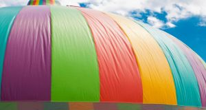 Weekend Review May 2011. Bouncy castle. Bouncing castle. Photograph: iStockphoto/Thinkstock.