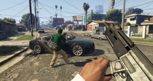 Bullet proof: New research doesn't take into account the immediate impact of playing violent games such as Grand Theft Auto 6 (above).