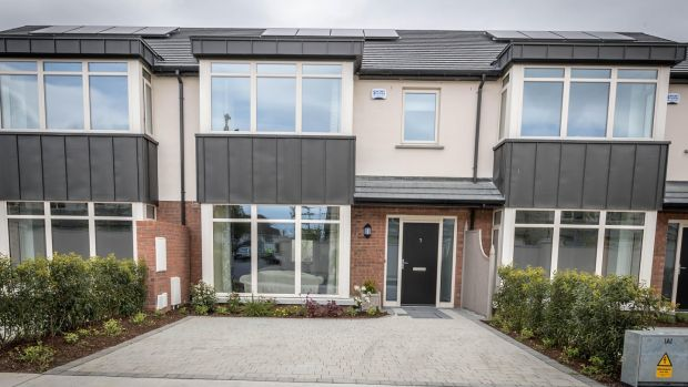 The exteriour of the new four-bedroom houses in the Lonsdale development