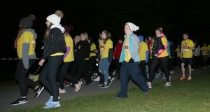 Up to 200,000 people participated in Darkness into Light events across the country last Saturday morning. Photograph:  ©INPHO/Donall Farmer