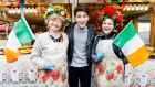 Irish Eurovision hopeful Brendan Murray  with some local fans  out and about in Kiev, Ukraine,  ahead of the  Eurovision semi-finals starting from Tuesday night. Photograph: Andres Poveda