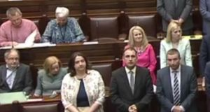 Ruth Coppinger and Bríd Smith didn't stand during Dáil prayers on Tuesday. They were joined by their colleagues from People Before Profit and Solidarity, along with Joan Collins of Independents4Change.