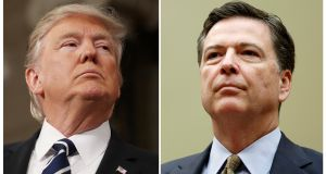 "The White House said US president Donald Trump dismissed FBI director James Comey on  ""clear recommendations"" from attorney general Jeff Session and deputy attorney general Rod Rosenstein. Photograph: Reuters"