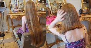 As well as donating her hair to the Rapunzel Foundation, Anna has raised more than €500 for Barretstown.