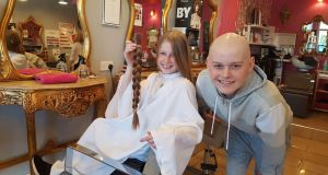 Anna Campion with her cousin Keith Carty at Pamper Yourself in Adamstown, Co Dublin