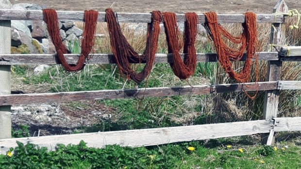 A weekend workshop with Beth Moran on Clare Island will give you the basics of spinning, weaving and natural dying.