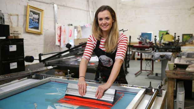 Screen printer Marie Varley. Photograph: Fran Veale