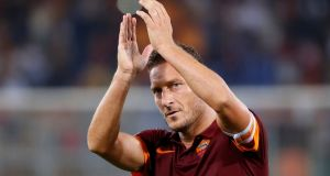 AS Roma's Francesco Totti has refused to confirm his retirement from playing at the end of the season. Photograph: Alessandro Bianchi/Reuters