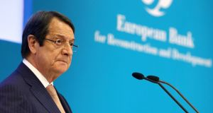 "Cypriot president Nicos Anastasiades insists  talks on Cypriot reunification should remain ""Cypriot-owned"". Photograph: Yiannis Kourtoglou/Reuters"