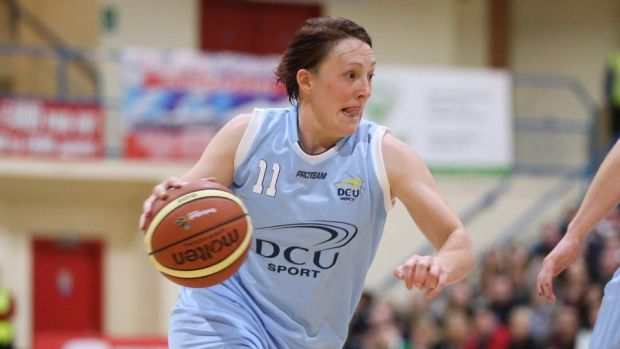 Lindsey Peat in action for DCU-Mercy. The Dubliner is also a former captain of the Irish international basketball team. Photograph: Cathal Noonan/Inpho