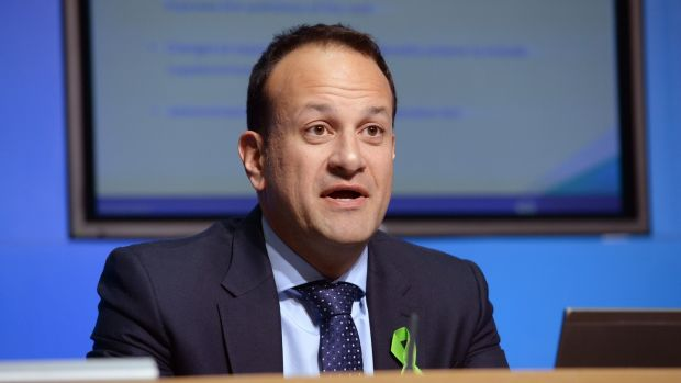 Minister for Social Protection Leo Varadkar: completed review will be presented to the Oireachtas no later than September 2018. Photograph: Dara Mac Dónaill