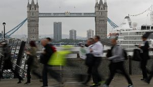 London: A traditional destination for Irish emigrants going to the UK. Photograph: Odd Andersen/AFP/Getty Images