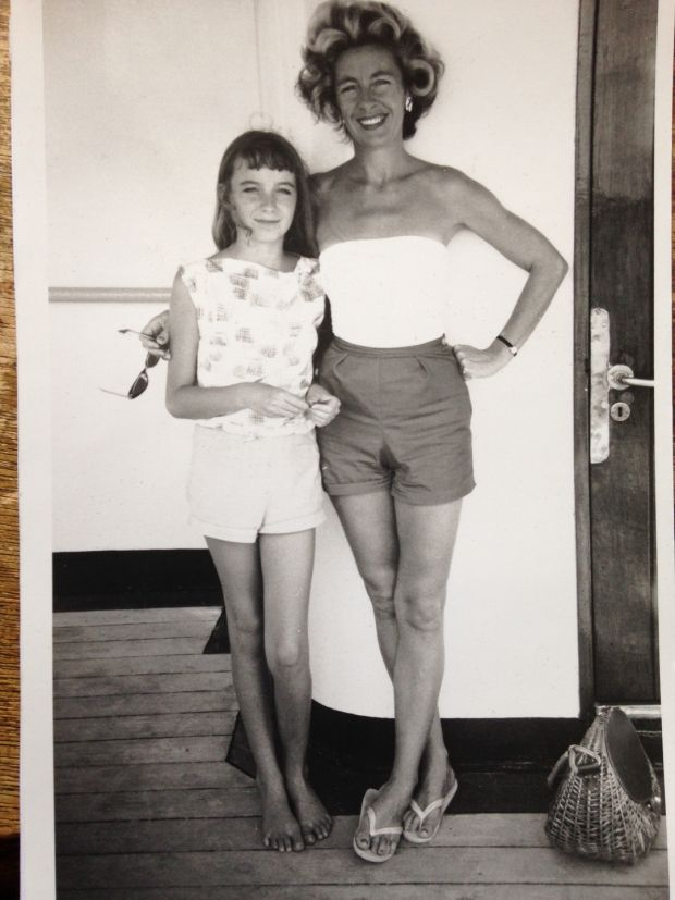 My mother and I when I was 12, on the boat travelling from New Zealand to Ireland