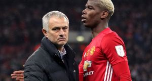 Manchester United manager Jose Mourinho and Paul Pogba: Ireland plays its part in their tax affairs, according to  Football Leaks. Photograph: Nick Potts/PA Wire