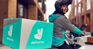Deliveroo's turquoise army of cyclists has been growing rapidly in Ireland. Photograph: © Mikael Buck / Deliveroo