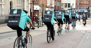 Deliveroo's turquoise army takes to the streets of Ireland.