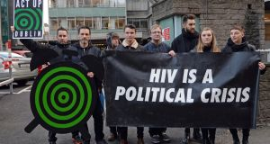 Act Up: members of  the Dublin HIV/Aids activist group call on Government and stakeholders to address the HIV crisis. Photograph: Eric Luke