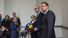 Fine Gael's Frances Fitzgerald, Simon Coveney and Leo Varadkar: party leadership contests are personality contests rather than competitions about policy. Photograph: Brenda Fitzsimons