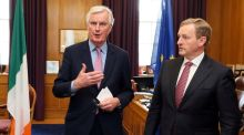 Michel Barnier, the European Commission's chief negotiator on Brexit, with  Taoiseach Enda Kenny at Government Buildings on Thursday. Photograph: Paul Faith/Reuters