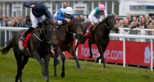 Ryan Moore and Cliffs Of Moher took the Dee Stakes at Chester. Photograph: Alan Crowhurst/Getty