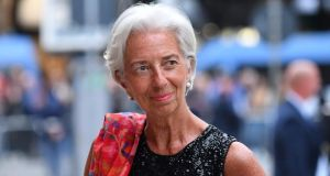 IMF managing director Christine Lagarde. The fund has hinted it might be wise to amend or end the Government help-to-buy scheme and tighten mortgage-lending rules. Photograph: Alberto Pizzoli/AFP/Getty Images