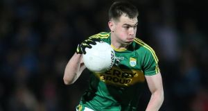 Kerry's Jack Barry has pace to burn. Photograph: Cathal Noonan/Inpho