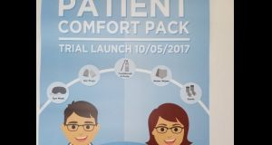 The trial 'comfort pack' sees eye masks, ear plugs, a toothbrush and paste, water wipes and socks being given to patients waiting in the emergency department of St Vincent's hospital