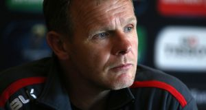 Saracens' head coach Mark McCall: his side attempt to become the first English side since Leicester in 2002 to successfully defend the title. Photograph:  Chris Radburn/PA Wire