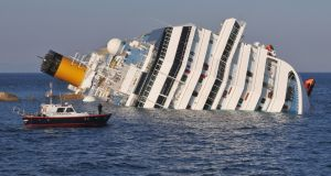 The cruise ship Costa Concordia lies stricken off the island of Giglio, on January 14th, 2012. File photograph: Laura Lezza/Getty Images