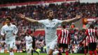 Fernando Llorente scored Swansea's opener in their 2-0 win at the Stadium of Light. Photograph: Jan Kruger/Getty
