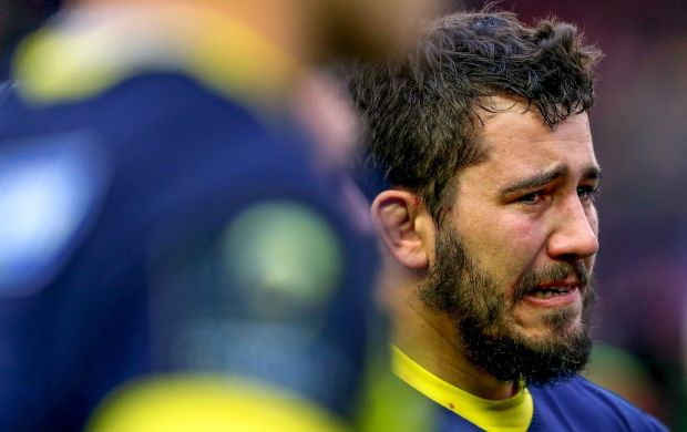 Clermont's Etienne Falgoux dejectedat the end of the game. Photo: James Crombie/Inpho