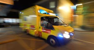 the National Ambulance Service said it reports assaults to the gardaí and does not have a policy of not pursuing prosecutions. Photograph: The Irish Times