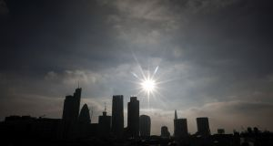 The City financial district in London. Photograph: Simon Dawson/Bloomberg