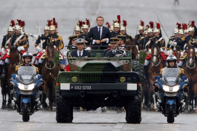 Image result for french president inauguration parade