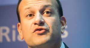 Minister for Social Protection Leo Varadkar: signalled his support for seeking special status for the North. Photograph: Gareth Chaney/Collins