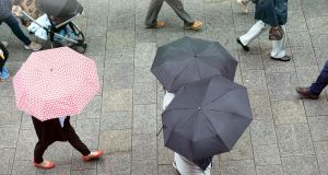 A status orange rainfall warning is in place for Co Kerry and Co Cork. File photograph: Eric Luke / The Irish Times