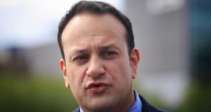 "Minister for Social Protection Leo Varadkar's campaign includes the slogan: ""Welfare cheats cheat us all."" Photograph: Gareth Chaney/Collins"