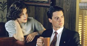 Sherilyn Fenn as Audrey Horne and  Kyle MacLaughlin as FBI special agent Dale Cooper in the original series of 'Twin Peaks'. Photograph: ABC via Getty Images