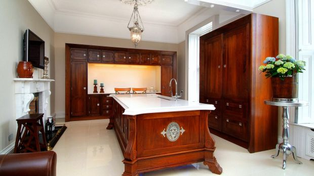 One of the two kitchens in Landore Hall, this one inspired by the Stanley Kubrick film Eyes Wide Shut