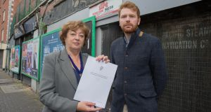 The Social Democrats Bill, which will be published by co-leader Catherine Murphy (left) and Dublin councillor Gary Gannon, proposes to strengthen  penalties considerably on owners of vacant, undeveloped sites.  Photograph: Paul Sharp/SHARPPIX