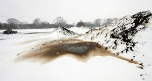 Stained landscape: a contaminated site near Kimbolton, Cambridgeshire, 2012. Photograph: Dara McGrath