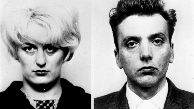 Moors murderers Myra Hindley and Ian Brady. The pair sexually abused and killed five youngsters before burying their bodies on the moors outside Manchester. Photograph: Greater Manchester Police/PA Wire