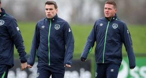 Everton and Ireland duo Seamus Coleman and James McCarthy have been out of action with contrasting injuries. Photograph: Ryan Byrne/Inpho