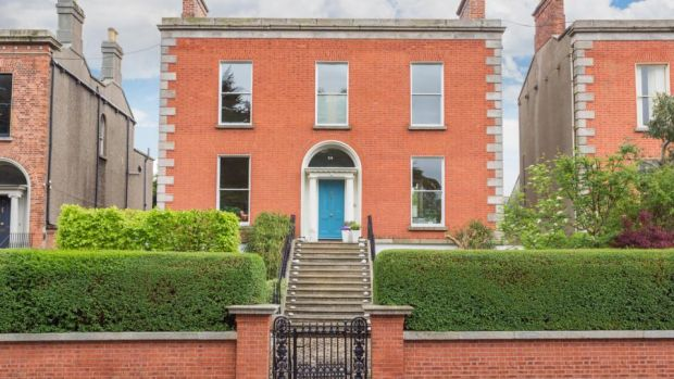 The front of 54 Kenilworth Square in Rathgar is walled, with the advantage of covered side access to the rear from both sides.