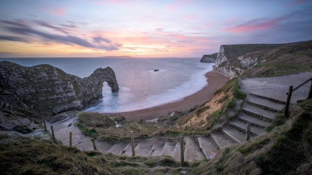 Durdle Door, Dorset, England. Photograph: Chris Button/Getty Images